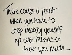 Forgive myself for not being perfect!