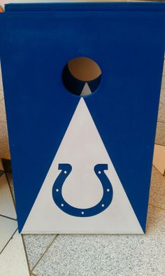 Indianapolis Colts cornhole boards with bags by Chrisandcarabear, $99.99