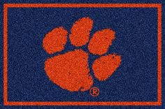 Clemson Tigers (Horizontal) 4' x 6' Team Door Mat: Get in the game...with an NCAA Clemson Tigers Team… #Sport #Football #Rugby #IceHockey