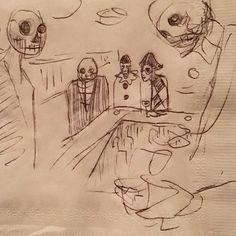 De Los Muertos, Harlequin. #draw #drawing #artist #sketch #bardrawing
