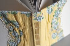 Guest Book with Vintage Floral Hankie and French by NatalieAsIs