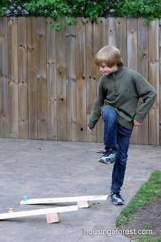 Simple Catapults- these are a great construction project and the kids love making the catapult & launching objects.