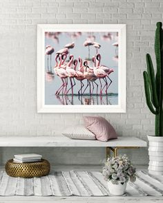 Naken Interiors supply a huge range of luxury and designer home decor products at great prices! Browse everything from lighting to wallpaper and much more! Framed Art, Framed Prints, Art Prints, Wall Art, Pink Flamingos, Flocking, Luxury Interior, Decorating Your Home, Tapestry