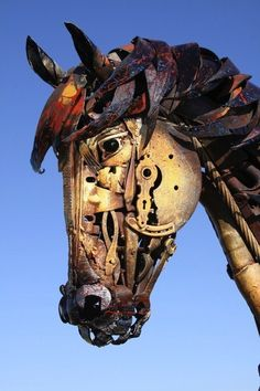 Incredible Artist Turns Scrap Metal Into Life-Size Sculptures