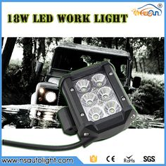 """Free shipping 2pcs 4"""" 18w led work light bar Spot Beam 12V/24V 6 LED*(3W) 1400lm OffRoad Driving Motorcycle lamp Truck"""