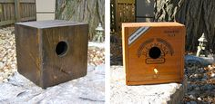 handmade birdhouses from recycled items | ... birdhouses nevertheless handmade from recycled wood these houses and