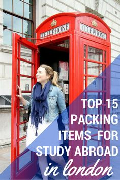 My Top 15 Packing Items for Study Abroad in London. Top 15 Packing Items for Study Abroad in London Study Abroad London, Study Abroad Packing, Study In London, Travel Abroad, Packing Tips, New Travel, London Travel, Spain Travel, Travel Tips