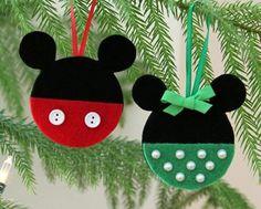 Mickey and Minnie Felt Ornaments