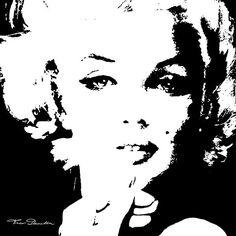 Marilyn Monroe by   www.facebook.com/TheoDanella   ✿   ART Shops:   http://www.pvz.net  www.redbubble.com/people/theodanella ✿