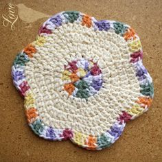 Crochet Dishcloth-Love this!  But would rather use as a hotpad. #CrochetDishcloth