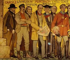 Famous Scots - historicall figures on the Frieze of the Scottish National Portrait Gallery David Livingstone, Uk History, Essayist, Irish Sea, National Portrait Gallery, Historian, Thomas Carlyle, Scotland