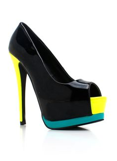 Colorblock is IN~ Love my new heels