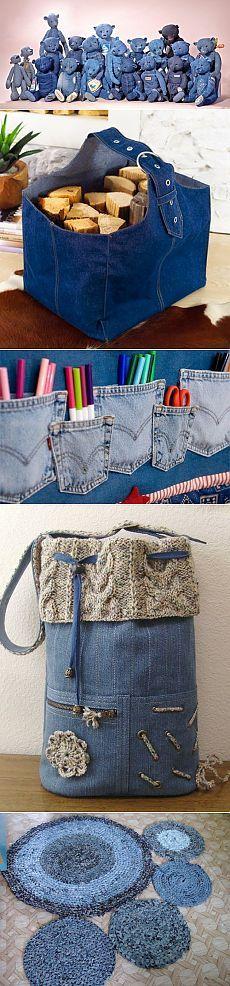 Несколько хороших советов по обработке старых свитеров и джинсов..