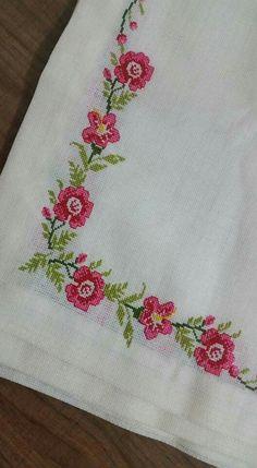 The most beautiful cross-stitch pattern - Knitting, Crochet Love Cross Stitch Letters, Cross Stitch Borders, Cross Stitch Samplers, Modern Cross Stitch, Cross Stitch Flowers, Cross Stitch Designs, Cross Stitching, Cross Stitch Embroidery, Stitch Patterns