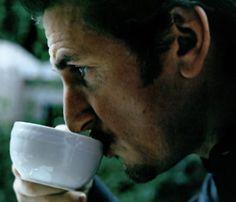 Sean Penn - coffee drinker