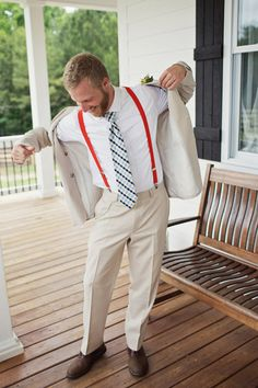 colored suspenders | Happy Everything Co #wedding