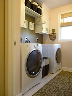 "Get fantastic ideas on ""laundry room storage small shelves"". They are actually readily available for you on our site. Tiny Laundry Rooms, Laundry Room Remodel, Farmhouse Laundry Room, Laundry Room Organization, Laundry Cupboard, Compact Laundry, Basement Laundry, Laundry Closet, Laundry Tips"