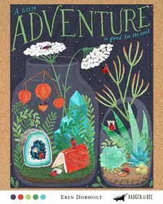 A little adventure, terrarium illustration by Erin Dorholt, semifinalist Global Talent Search 2014