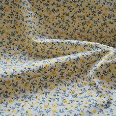 Cotton Poplin Print_Tiny Yellow Rose_cu