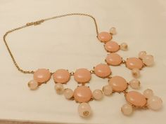 Authentic J. Crew Pale Pink Large Resin by TheJewelryCabinet, $32.50