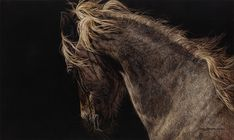 Can you see the eagle on the horse?  Gosh, she's amazing!  Art by Judy Larson.