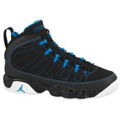 9b4c89fa2df259 Jordan Retro 9 - Boys  Grade School - Basketball - Shoes - Black White Photo  Blue. michael oliver