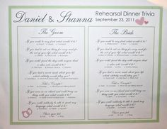 Last year I helped my parents with the details of my brother's rehearsal dinner.my mom and I had fun pulling it all together when she got into town!This can totally be a last minute DIY wedding det...