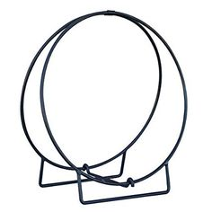 Firewood holder. Amazon.com: UniFlame 24-Inch Black Log Hoop with 1/2-Inch Solid Stock: Home & Kitchen