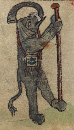 Book of Hours, Elephant as Pilgrim, Walters Manuscript W.102, fol. 73v detail