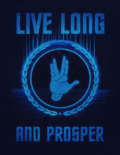 #Live #Long and #Prosper - #Spock's #hand - #Leonard #Nimoy #Geek #Tribut #Art #Print