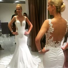 Long Mermaid Wedding Dress,Sexy Backless Wedding Dresses,Bridal Dress