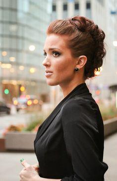 New hair updos wedding faux hawk 39 ideas Bun Hairstyles, Pretty Hairstyles, Hair Day, New Hair, Faux Hawk Updo, Braided Faux Hawk, Faux Mohawk, Freckled Fox, Business Hairstyles