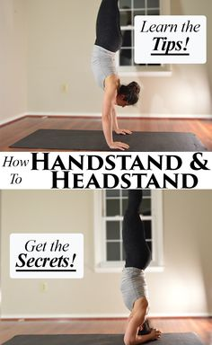 Guide to How to Handstand! Tips to build shoulder and core strength too!