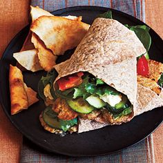 Tempeh Greek Salad Wraps | CookingLight.com