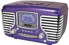 u have to have this Tasha! Corsair Purple Radio with Chrome, Alarm Clock and CD Player.. Retro art deco