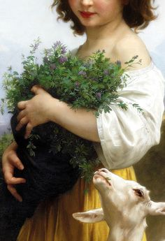 1874 William-Adolphe Bouguereau Français : La Petite Esmérald (detail)