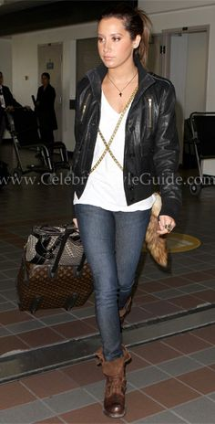 Ashley Tisdale Style and Fashion - Genetic Denim Shane Cigarette Jeans - Celebrity Style Guide