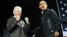 Bill Clinton and Barack Obama in Virginia Nov 3, 2012