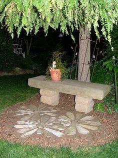 Pierre fleurs jardin Art main ébréché grès fleur par dave450