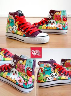 #monsters #shoes #illustration Fantastic World Chuckz by =Bobsmade on deviantART
