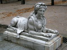 The sphinx is a mythical creature with a lion's body and a human head. The sphinx, in Greek tradition, has the haunches of a lion, the wing. Ancient Mysteries, Ancient Ruins, Ancient Artifacts, Ancient History, Art History, Ancient Greek, Ufo, Le Sphinx, Ancient Civilizations