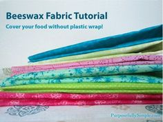 This beeswax food wrap is a safe and sustainable alternative to plastic wrap and is really easy to make. Find out how I make it in this post.