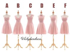 pink bridesmaid dresses, long bridesmaid dress, beach bridesmaid dress, cheap bridesmaid dress,VB07047