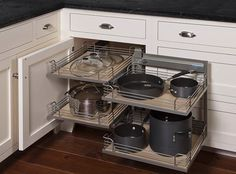 Corner Kitchen Cabinet Solutions | Lazy, Swings and Corner