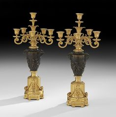 Pair of Napoleon III Bronze Candelabra - by New Orleans Auction Galleries