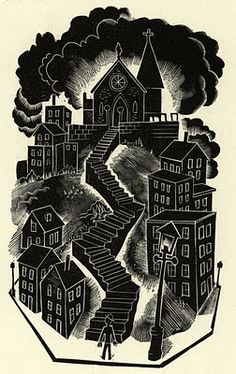 Jim Flora woodcut