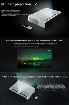 This is the world's first ultra-short projector with advanced laser display ( ALPD ) technology, which delivers up to 150 inches of full HD quality images in 50 centimeters, with product life up to hours. Projector Hd, Pc Keyboard, Best Ups, Projection Screen, High Tech Gadgets, Computer Network, Office And School Supplies, Laptop Accessories, Bluetooth