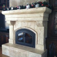 Custom Precast Concrete Fireplace
