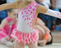 Competition Rhythmic Gymnastics Leotard ice by artmaisternia