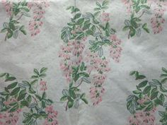 Vintage 1993 Laura Ashley Cotton Interiors Fabric Pink Wisteria x W Laura Ashley Fabric, Wisteria, Interiors, Cotton, Pink, Crafts, Vintage, Manualidades, Hot Pink